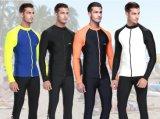 Material de lycra mergulho prensa com fecho de correr frontal&Sportswear