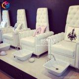 De elegante Eenvoudige Goedkope Salon Furnitures van de Spijker van de Stoelen van de Pedicure met Platform