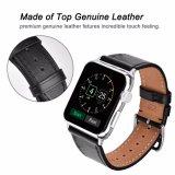 22mm Form-echtes Leder-Uhrenarmband für Apple-Uhrenarmband