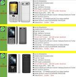 OEM van de fabriek GSM de Mobiele Telefoon Cellphone van de Band van de Vierling met Whatsapp