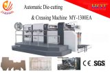 Máquina que corta con tintas de alta velocidad semiautomática y máquina que arruga