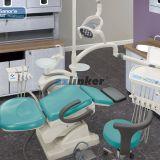 Anle 완전한 알루미늄 398sanor 표준 치과 단위 의자