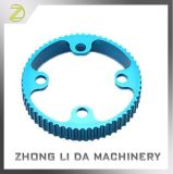 Het blauwe Geanodiseerde Deel van het Aluminium van het Deel van de Douane van de Hoge Precisie CNC Machinaal bewerkte