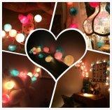 Оптовые декоративные света шарика хлопка света шарика шнура