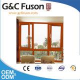 Het grijze Openslaand raam van het Aluminium van de Kleur met Dubbel Glas