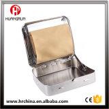 Caja industrial del rodillo del cigarrillo del rectángulo del balanceo del tabaco del hierro del metal con la parte posterior Siver 70m m del arco