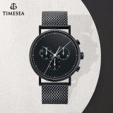 Großhandelsform-Edelstahl-Chronograph-kundenspezifische Ineinander greifen-Uhr 72016