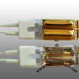 Lámpara infrarroja gemela de la onda corta del tubo del oro