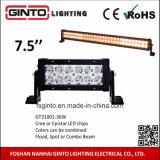 7.5inch 36W 안개 날씨를 위한 노란 초점 LED 표시등 막대