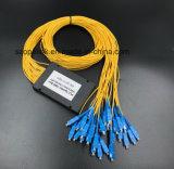 Divisor óptico del PLC de la telecomunicación 1X32 de Gpon de la cuerda de corrección de fibra