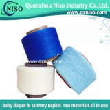 Hilado azul de Elastomaric del Spandex del color para el pañal del bebé de la UPS del tirón