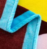 Coperta del panno morbido della flanella del poliestere del reticolo del fumetto