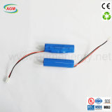 Icr 18650 2600mAh 3.7V 9.62wh com a bateria de íon de lítio do PCM