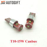 W5w 194 T10 크리 사람 칩 3SMD 15W T10 3SMD LED 전구 외부 Canbus 빛