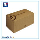 Rectángulo de empaquetado de Kraft del regalo de papel rígido de lujo de encargo de la cartulina