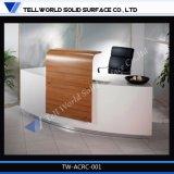 Heißer gebogener moderne Möbel Corian der Form-2014 Entwurf weißer Empfang-Schreibtisch