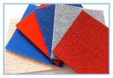 La aguja de poliéster de terciopelo de perforación estriada simple exposición de alfombras para boda, mostrar, el coche, hotel y otros lugares