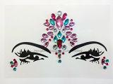 3D Crystal pegatina escogido la cara y ojos de joyas frente etapa pegatina tatuaje temporal (SR-28)