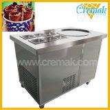 Compressor de alta qualidade Máquina de Gelados fritos com 6 baldes