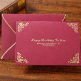 La boda de papel hecha a mano/el saludo/la invitación de encargo de lujo carda la impresión