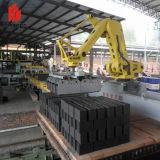 Ajuste de robótica de la máquina en la planta de fabricación de ladrillos