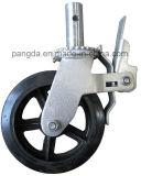 Gestell-Schwenker-Fußrollen-Rad mit Bremse