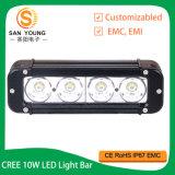 4X4 de la conduite Offroad 40W Une seule rangée de barre d'éclairage à LED pour camion Vtt Jeep SUV UTV IP67