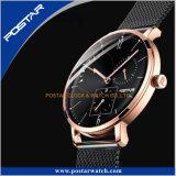 Nuevo reloj unisex de cristal abovedado de Sapphre con la venda milanesa