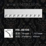 Parte superiore dell'unità di elaborazione del cornicione intagliata decorazione del soffitto del poliuretano che modella Hn-80100