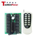 Avanço lento/Self-Lock/intertravadas 12V 12channel 433MHz DE RF /315MHz Interruptores do Controle Remoto do Relé Sem Fio + Transmissor de 12 teclas