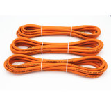"""Pouce de 1/4"""" de couleur orange de gaz en caoutchouc flexible avec raccord en laiton"""
