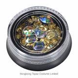 Kleurrijk schitter Shell van het Metaal van de Gemmen van de Charmes van de Bergkristallen van Parels de Holle Decoratie van de Kunst van de Spijker (nr-23)