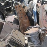 鉄タワーの鉄骨構造橋のフィールドの共同版の穿孔器のドリルのマーク