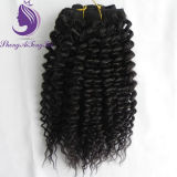 Kinky Curly Remy tie-clip in Hair Extension