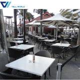 人工的な石造りのイタリア様式のチェアーテーブルのレストランの家具セット