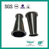 De sanitaire Montage van de Pijp van het Reductiemiddel van het Roestvrij staal Concentrische Vastgeklemde