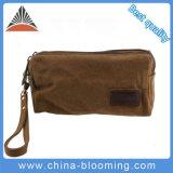 キャンバス旅行洗面用品の袋の洗浄構成のケースの装飾的なハンドル袋