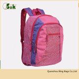 Concepteur de gros sacs de livre pour enfants de laminage rose pour les voyages