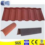 屋根ふきシートの生産ライン、多彩な石の上塗を施してある鋼鉄屋根瓦