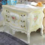 Banho de boa qualidade populares armário de madeira de carvalho com pintura brilhante (F8069)