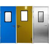 Duas portas de salas limpas de Aço Inoxidável