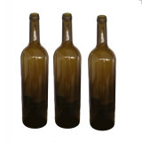 750ml 25ozの良質の旧式な緑アルコール飲料のガラス赤ワインのびん