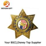Fabricant insigne de police de cinq étoiles personnalisé
