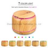 250ml 목제 곡물 LED 변화 빛을%s 가진 전기 초음파 방향 유포자