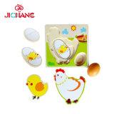 Giocattoli educativi del pollo di sviluppo della gallina del fumetto dei bambini di legno di puzzle