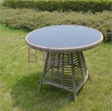 Im Freiengarten-hochwertiger bequemer Freizeit PET Rattan-Tisch und Stuhl