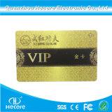 13.56Ouro brilhante MHz cartão de membro de RFID com fita magnética