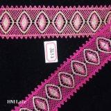 5.5cm 의복 Hme898를 위한 삼각형 프린지를 가진 분홍색 입술 크로셰 뜨개질 손질 레이스