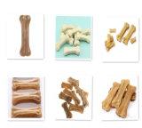 100% ضغط جلد مدبوغ طبيعيّ عظمة كلب مضغ