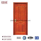 Portello di legno del portello della villa a prova di fuoco di legno interna dell'appartamento con il certificato